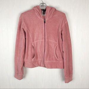 ✅Patagonia pink hoodie cropped rhythm full zip